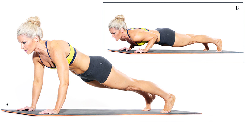 Chaturanga Dandasana – correct alignment